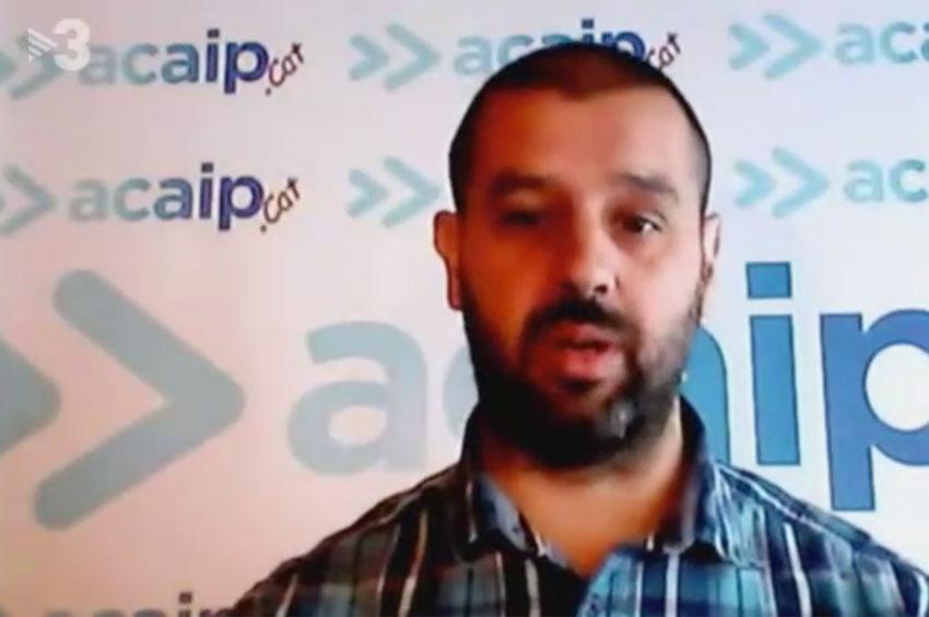 Entrevista a Francesc Lopez coordinador ACAIP-CAT en TV3